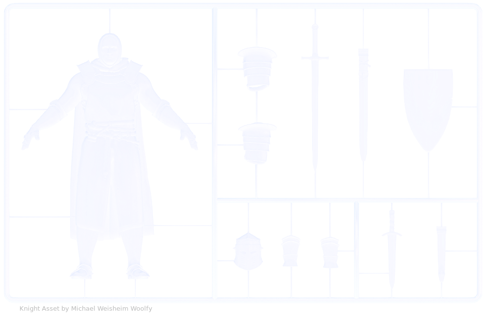 Plastic Knight Model Kit Asset